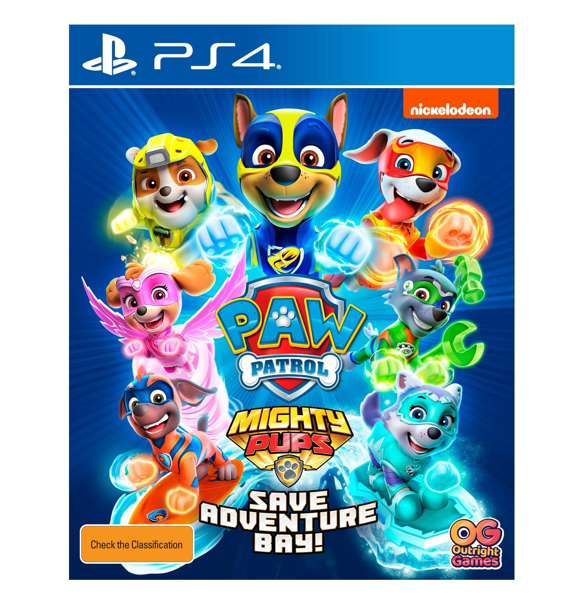 Outright Games Paw Patrol Mighty Pups Save Adventure Bay PS4 Playstation 4 Game