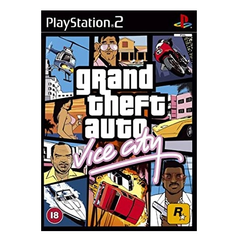 Rockstar Grand Theft Auto Vice City Refurbished PS2 Playstation 2 Game