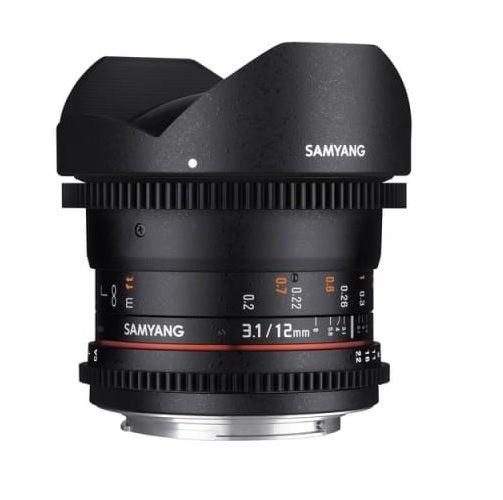 Samyang 12mm T3.1 VDSLR ED AS NCS Fisheye Lens