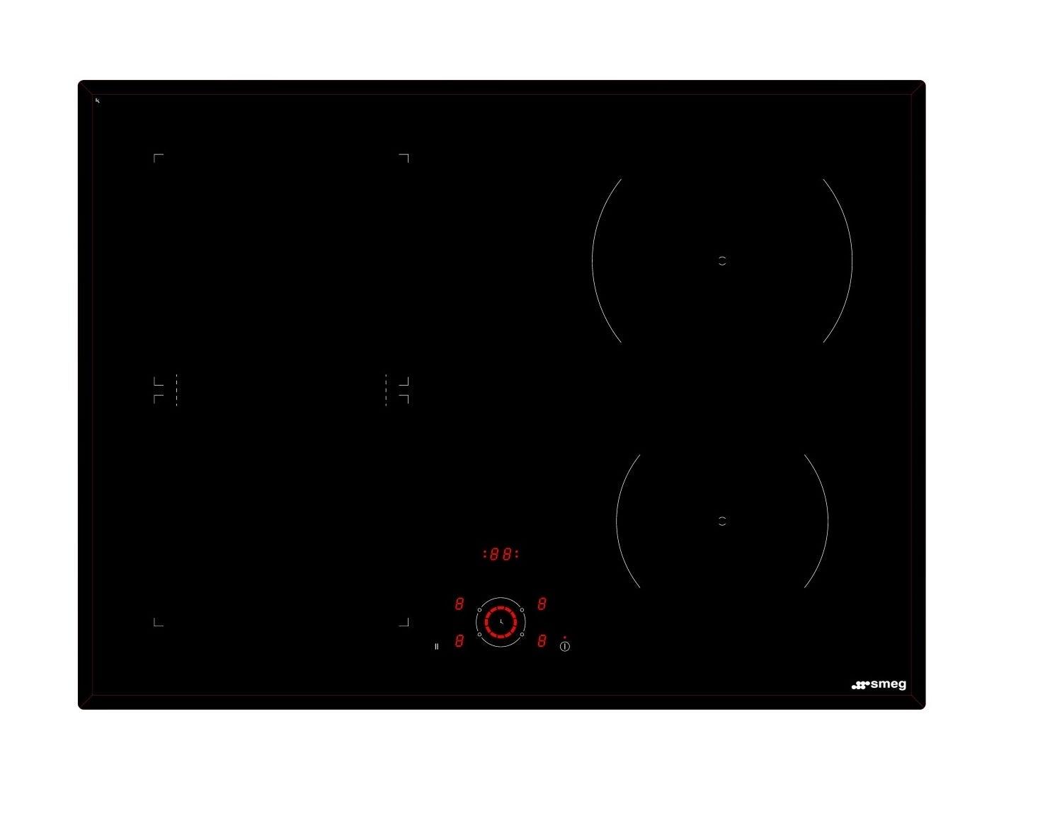Smeg SAI714B Kitchen Cooktop
