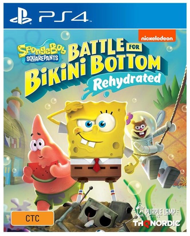 THQ SpongeBob SquarePants Battle for Bikini Bottom Rehydrated PS4 Playstation 4 Game