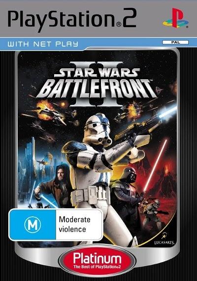 Electronic Arts Star Wars Battlefront 2 Platinum Refurbished PS2 Playstation 2 Game