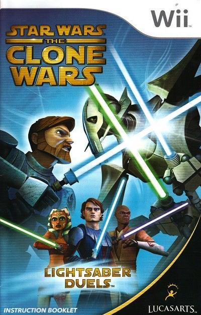 Lucas Art Star Wars The Clone Wars Lightsaber Duels Nintendo Wii Game