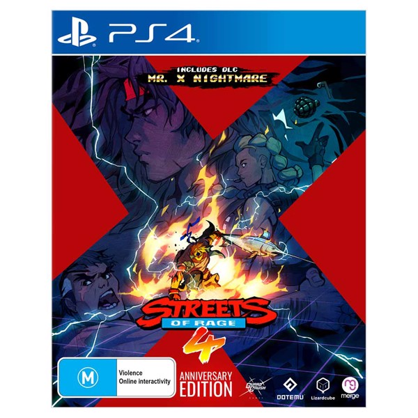 Merge Games Streets Of Rage 4 Anniversary Edition PS4 Playstation 4 Game