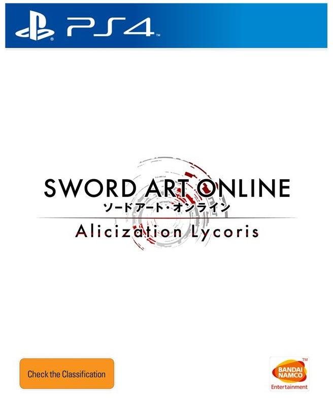 Bandai Sword Art Online Alicization Lycoris PS4 Playstation 4 Game