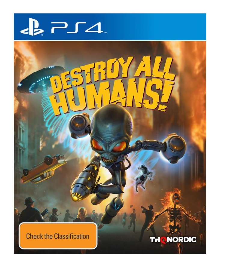 THQ Destroy All Humans PS4 Playstation 4 Game