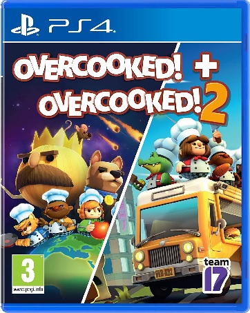 Team17 Software Overcooked Plus Overcooked 2 PS4 Playstation 4 Game