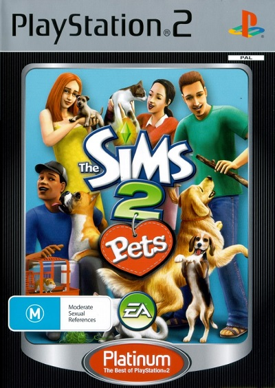 Electronic Arts The Sims 2 Pets Platinum Refurbished PS2 Playstation 2 Game