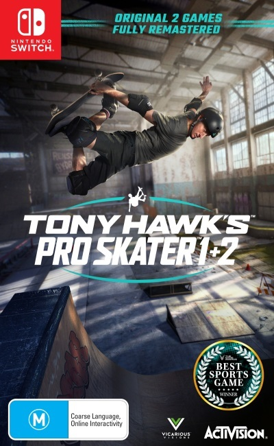 Activision Tony Hawks Pro Skater 1 Plus 2 Refurbished Nintendo Switch Game