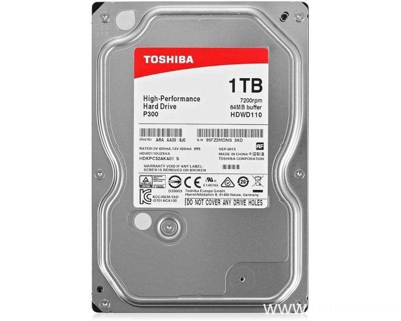 Toshiba P300 HDWD110UZSVA 1TB Hard Drive