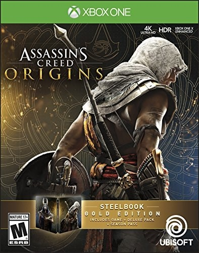 Ubisoft Assassins Creed Origins Steelbook Gold Edition Xbox One Game