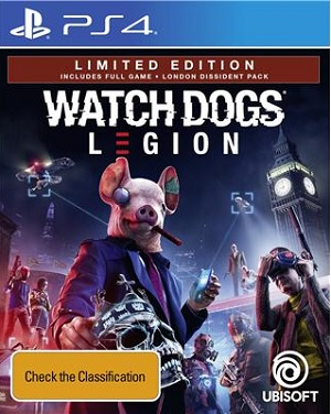 Ubisoft Watch Dogs Legion Limited Edition PS4 Playstation 4 Game