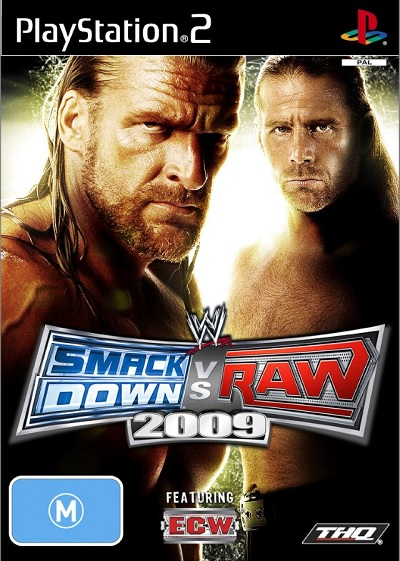 THQ WWE Smackdown VS RAW 2009 Refurbished PS2 Playstation 2 Game