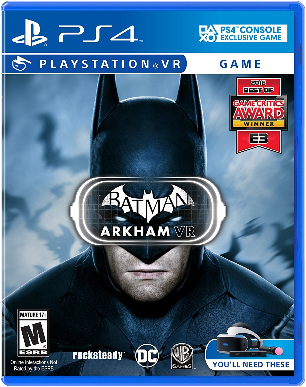 Warner Bros Batman Arkham VR PS4 Playstation 4 Game
