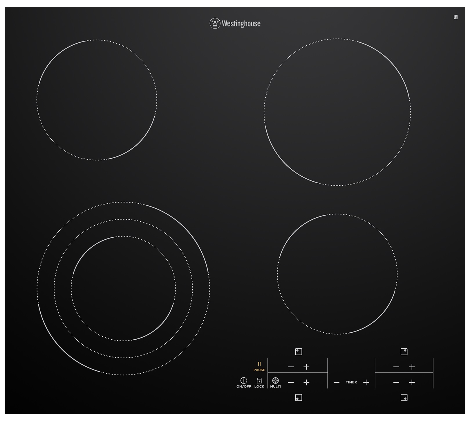 Westinghouse WHC643BC Kitchen Cooktop