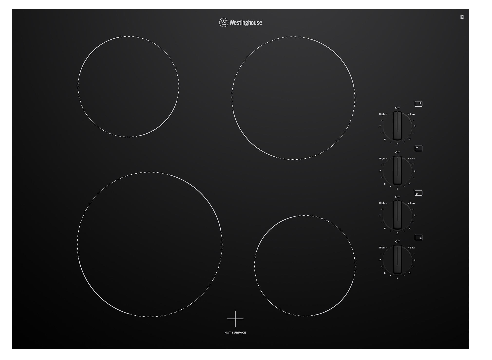 Westinghouse WHC742BC Kitchen Cooktop