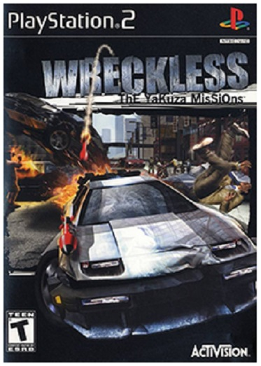 Activision Wreckless The Yakuza Missions PS2 Playstation 2 Game