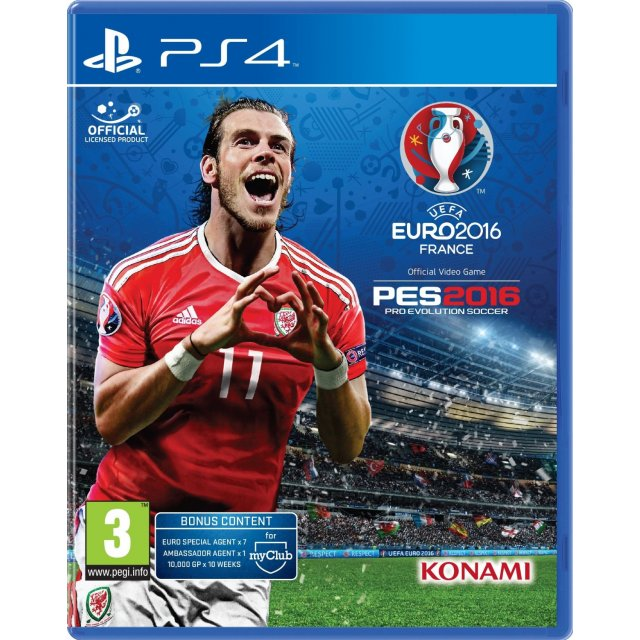 konami Pro Evolution Soccer UEFA Euro 2016 PS4 Playstation 4 Game