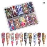 Colourful Floral Paisley & Mandala Nail Art Transfer Foil Set (10 Designs Per Box)