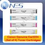 Canon Genuine Cart034 BK/C/M/Y (Set of 4) Toner Cartridge Set for imageCLASS MF-810cdn