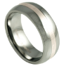 Tungsten Fashion Men's Rings With Angled Resin Inlay