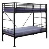 Travers Commercial Grade Metal Bunk Bed, King Single, Black