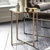 Torrance metal Round Side Table