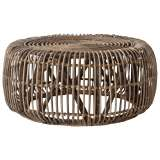 Dixie Rattan Round Coffee Table, 85cm, Natural