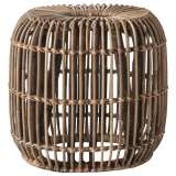 Dixie Rattan Round Side Table, Large, Natural