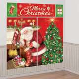 Christmas Santa Giant Scene Setter Wall Decorating Kit - 5 Piece Set