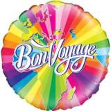 Bon Voyage Rainbow Stripes 18in. Foil Balloon Pk 1