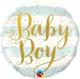 Baby Boy Striped 18in. Foil Balloon Pk 1