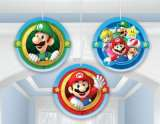 Super Mario Bros Hanging Honeycomb Decorations Pk 3