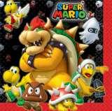 Super Mario Bros 2 Ply Lunch Napkins Pk 16