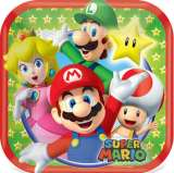 Super Mario Bros 7in. Square Paper Plates Pk 8