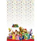 Super Mario Bros Plastic Tablecover (243cm x 137cm) Pk 1