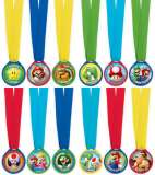 Super Mario Bros Award Medal Party Favours Pk 12