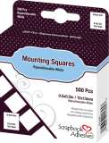 3L Regular Mounting Squares - Repositionable White (500 Tabs)
