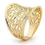 Gold Ring - Heart Filigree (44288)