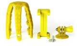 Celly Squiddy Flexible Mini Tripod - Yellow inc Smartphone & GoPro Adapter