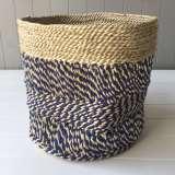 Carnival Denim Blue Natural Basket