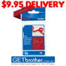 Brother 24mm x 4m Gold on Wine Red Ribbon Tape (TZe-RW54)