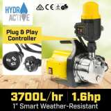 Hydro Active 1200w Weatherised Auto Water Pump - Yellow