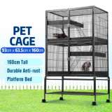 4 Levels Pet Cage Rabbit Hutch Cat Hamster Guinea Pig Ferret Chinchilla House