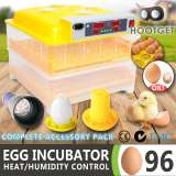 Egg Incubator Fully Automatic Digital LED Hatch - 96 Eggs