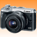 New Canon EOS M6 kit (15-45mm) Digital Cameras Silver (FREE INSURANCE + 1 YEAR AUSTRALIAN WARRANTY) - Visit Us For More Color Variant