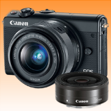 New Canon EOS M100 kit (15-45mm) (22mm) Digital Cameras Black (FREE INSURANCE + 1 YEAR AUSTRALIAN WARRANTY) - Visit Us For More Color Variant